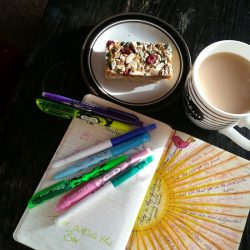 Hygge life - journaling and mugs of tea
