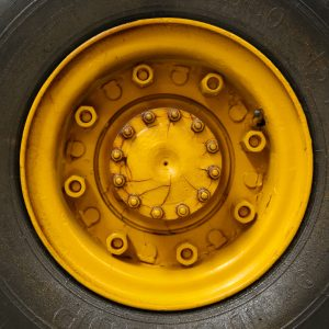 Yellow space saver tyre