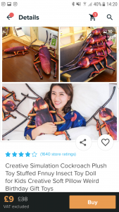 Cockroach pillows