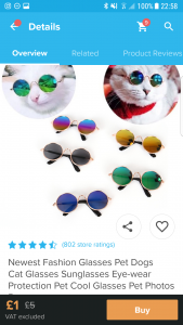 Sunglasses for cats
